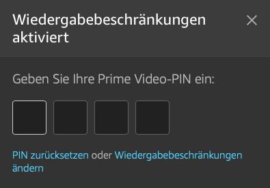 Prime Video PIN