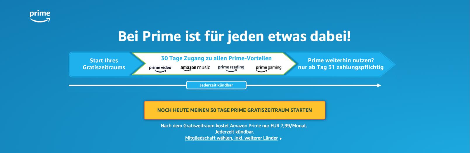 Wie oft kann ich Amazon Prime kostenlos testen?