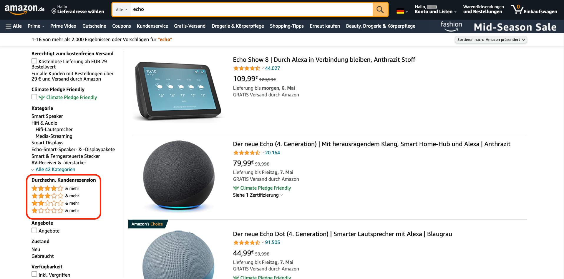 Amazon Bewertungen