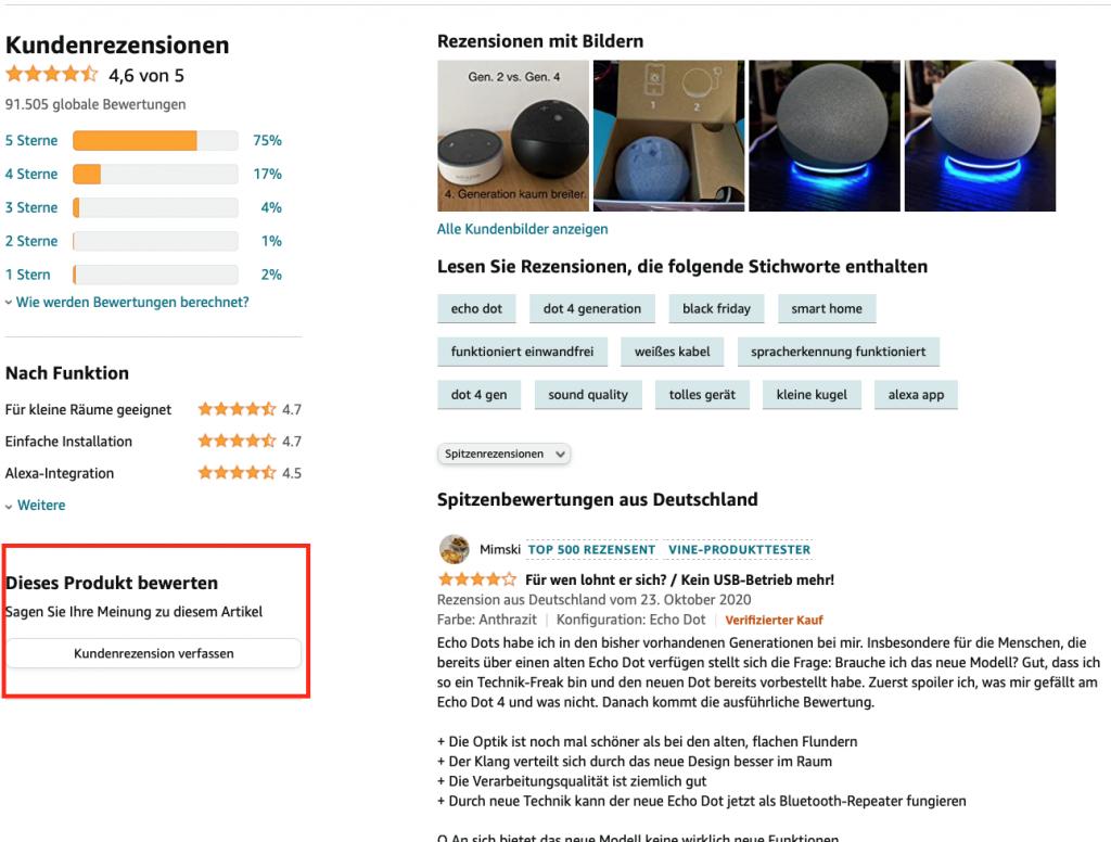 Produktrezension Amazon