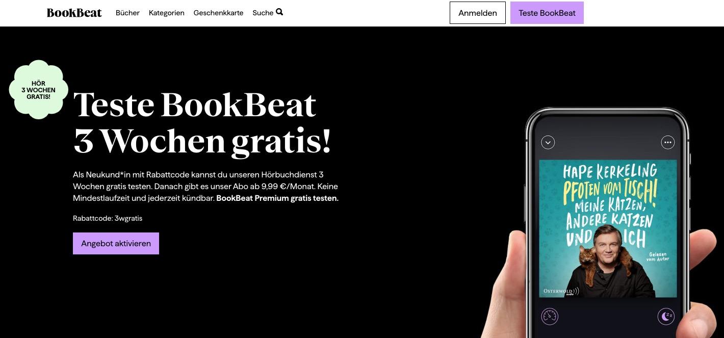 BookBeat kostenlos testen