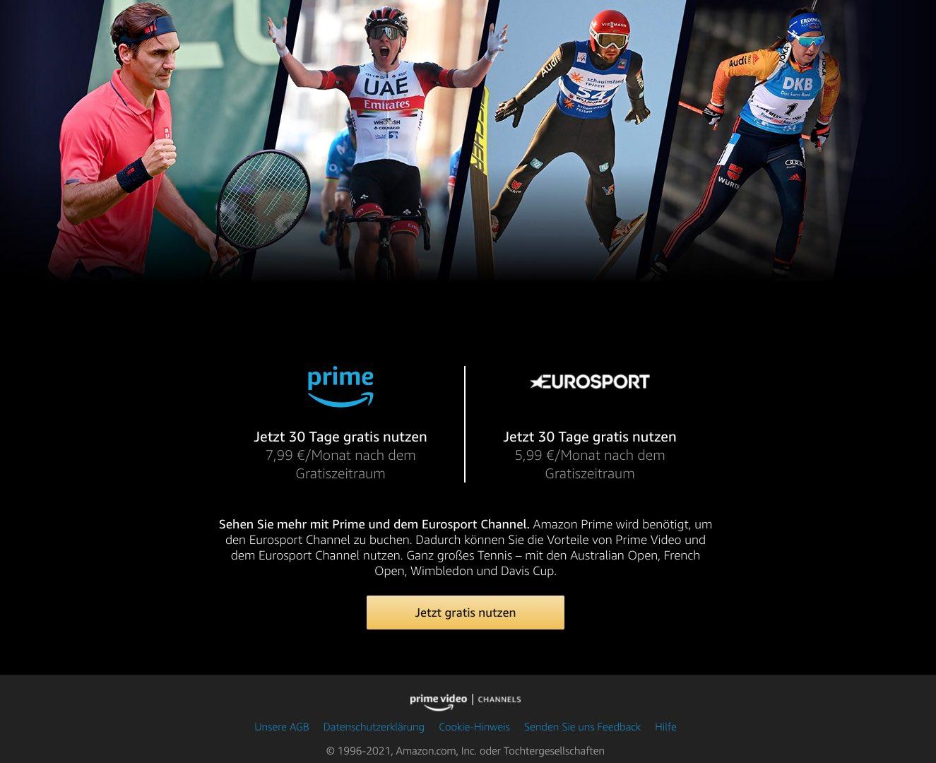Eurosport Player Prime Video Channel