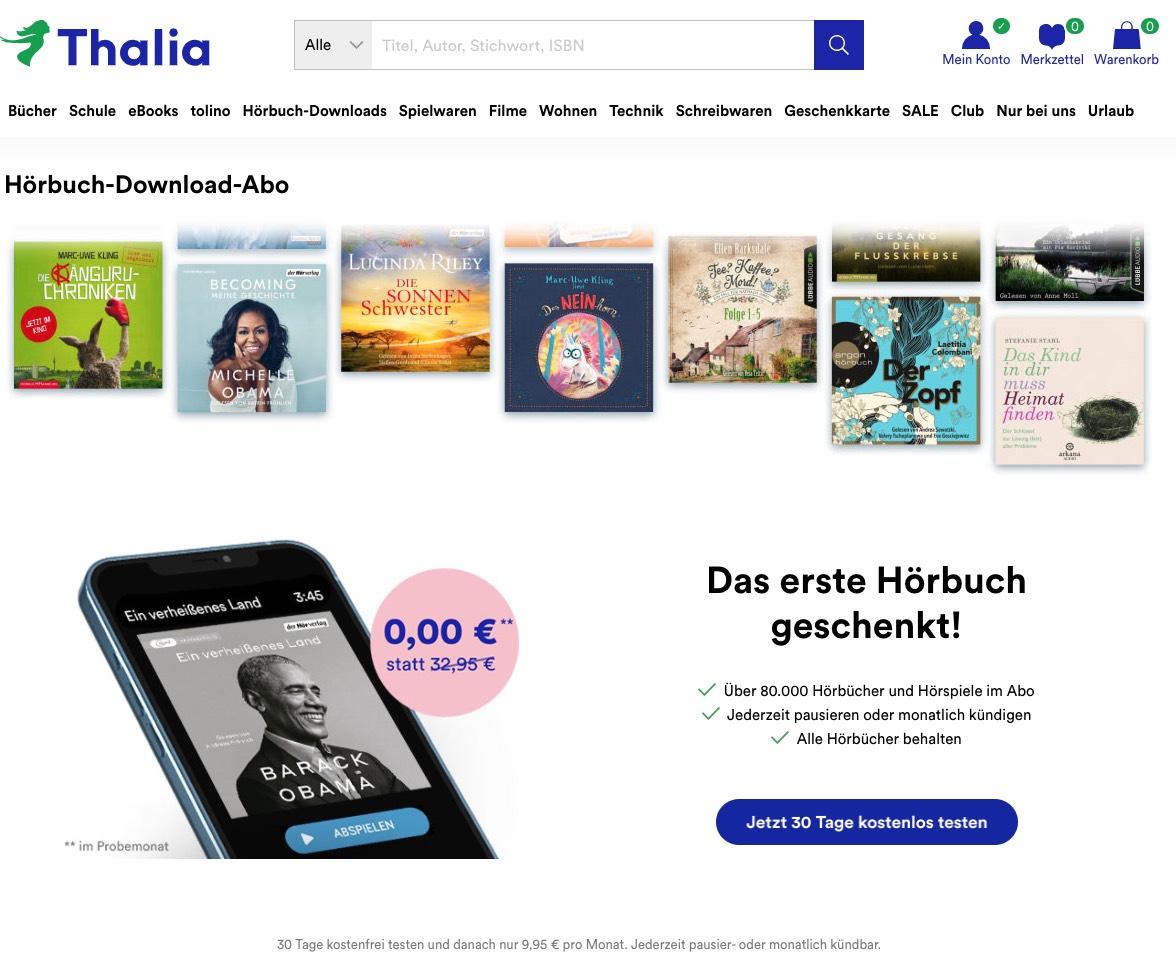 Thalia Audible Alternative